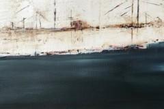 Himmel + Elbe - 40x40 cm / Acryl auf Leinwand