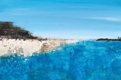 Strandgut  -  30 x 30 cm.  / Acryl auf Leinwand